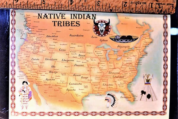 Indian Tribes of the US Postcard, Small